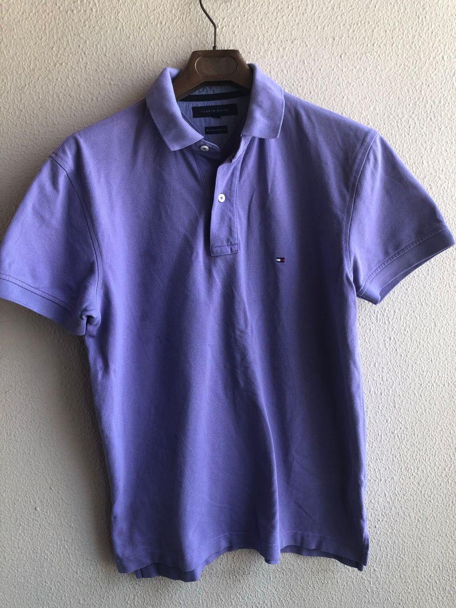 polo lilás tommy hilfiger original tamanho m - camisetas tommy hilfiger a785149187aa9