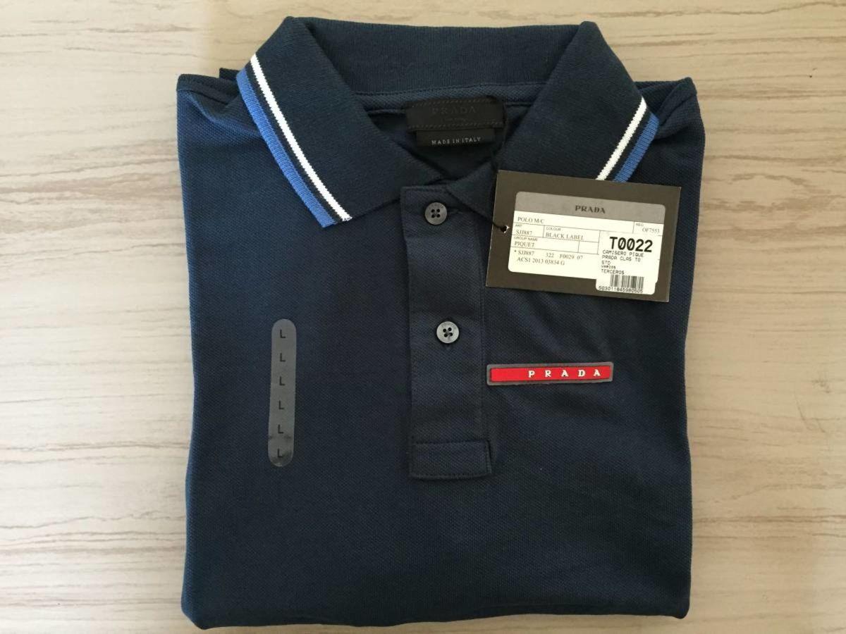 83b728878 Polo Prada Azul Marinho Xl Original Importada | Camisa Masculina ...