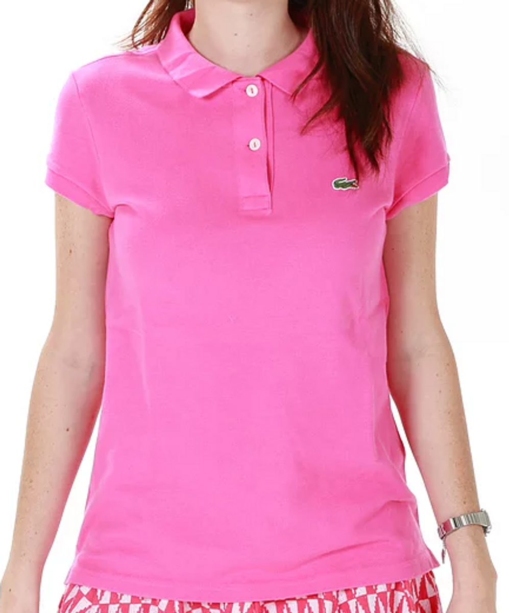 on sale 9b783 01cd5 polo rosa choque lacoste