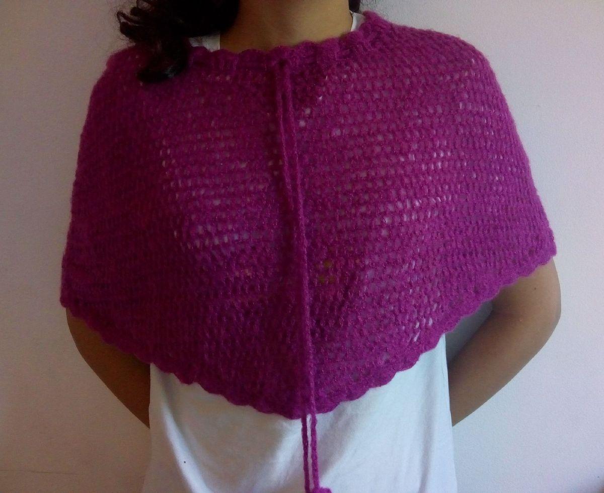 poncho violeta - lenços marisa