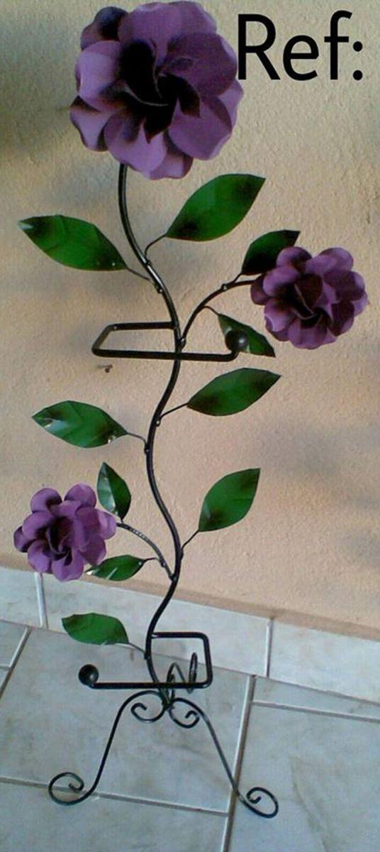 Porta Papel Higiênico Flores Item De Decoração Ateliê é De Casa