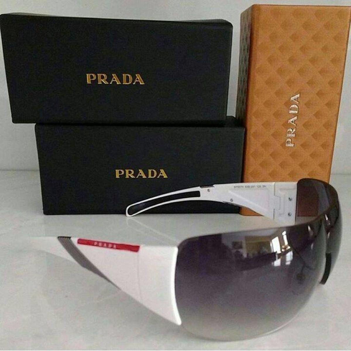14992a6526987 Prada Mascara Bolha Completo Caixa Prada