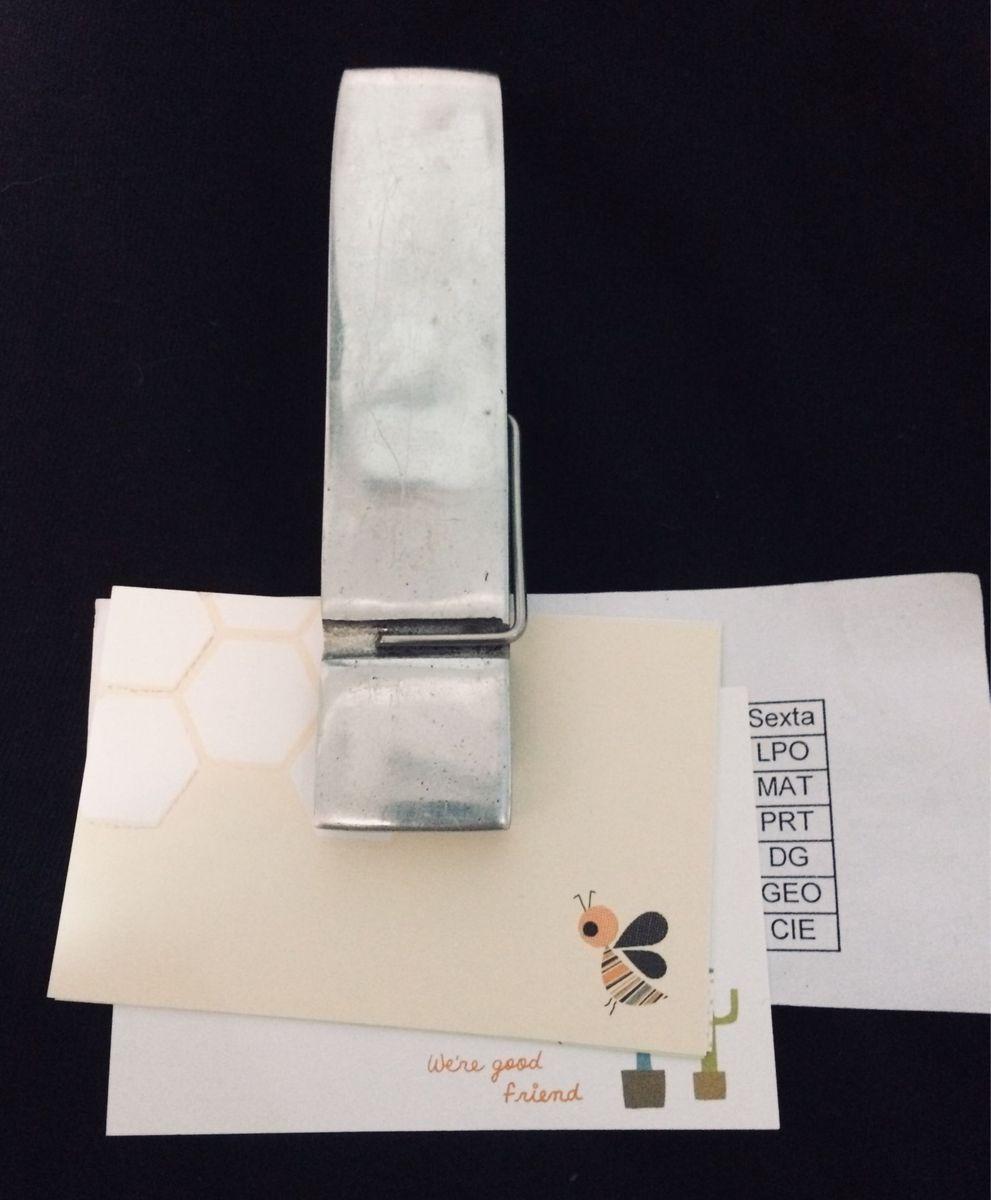 60d17f43e0 prendedor de papel em inox tok stok - papelaria tok stok