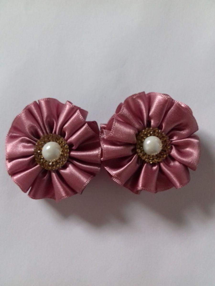 presilha rosa antigo - cabelos atelie-arte-em-fita