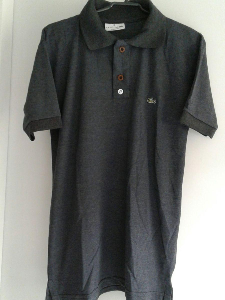 27dcdf3e74 promoção kit 3 camisas polo lacoste p - camisas lacoste