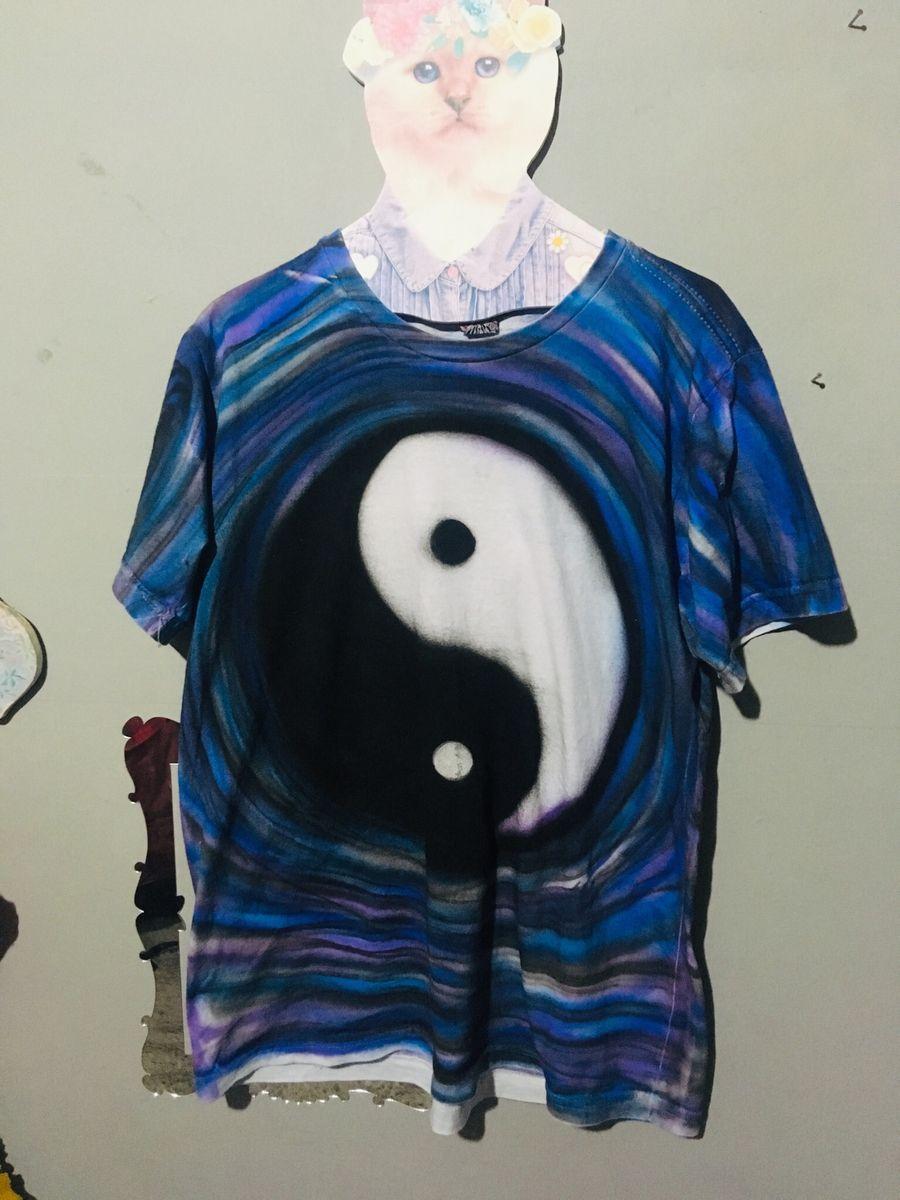 psicodélica yin and yang - camisetas sem marca