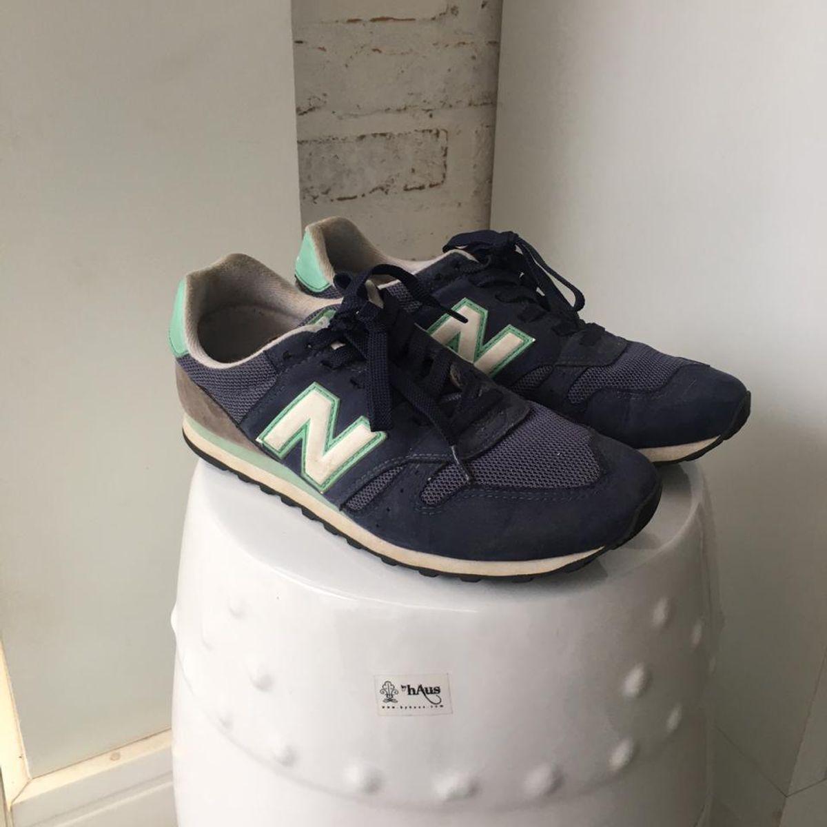 Tênis New Balance Azul e Verde | Tênis Feminino New Balance Usado ...