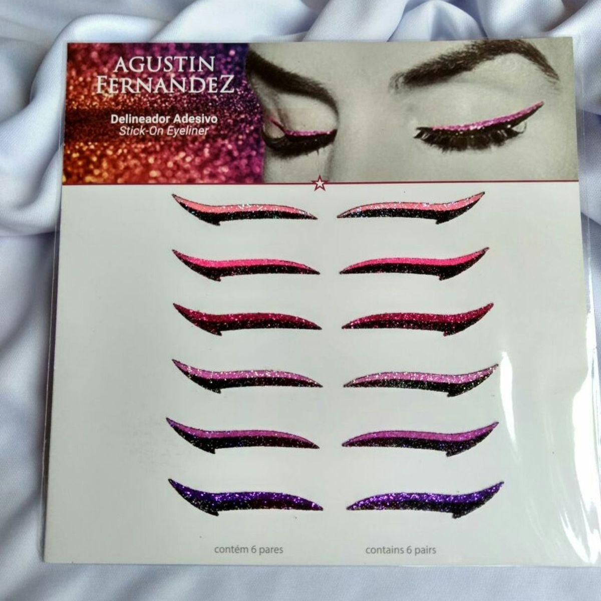 Delineador em Adesivo Agustín Fernandez com Glitter Colorido.   Maquiagem  Feminina Agustin Fernandez Nunca Usado 20   enjoei
