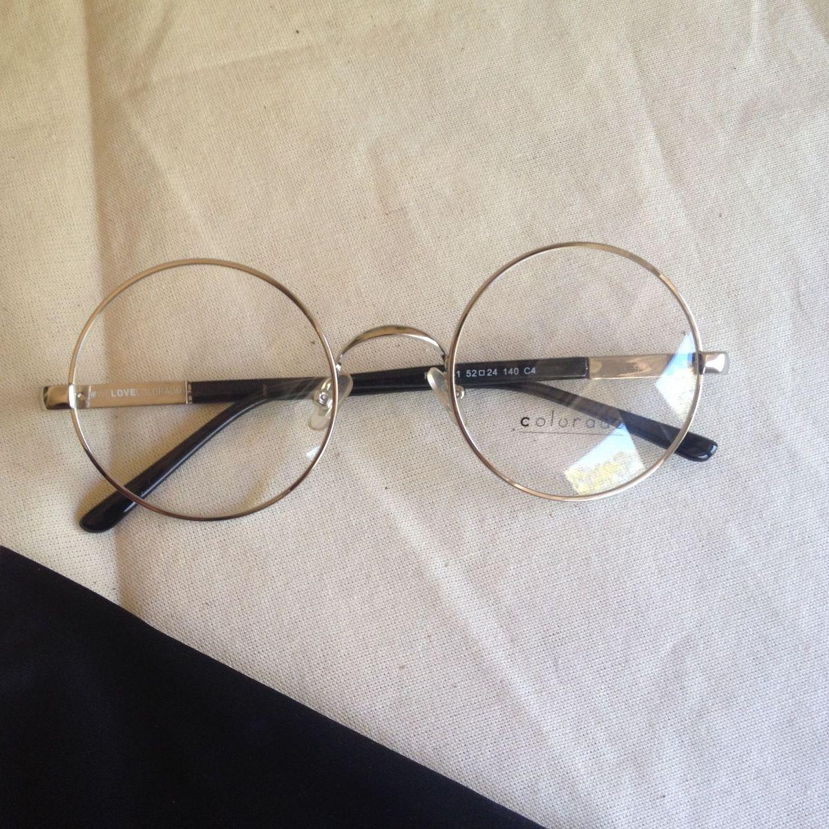 óculos De Armação Redonda óculos Feminino Colorado Nunca Usado 31483997 Enjoei
