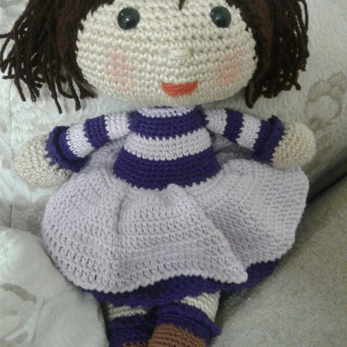 Vanessa Lovatel - Artes Feito à Mão: Boneca Aurora Amigurumi de Crochê | 1200x1200