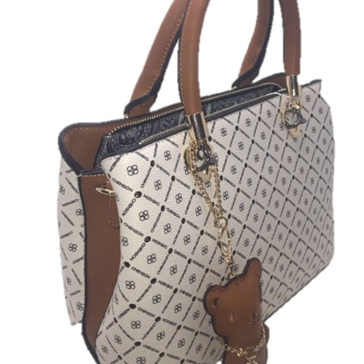 Bolsa Chenson Monograma Star Branco Bolsa De Mao Feminina Chenson Nunca Usado 42799884 Enjoei
