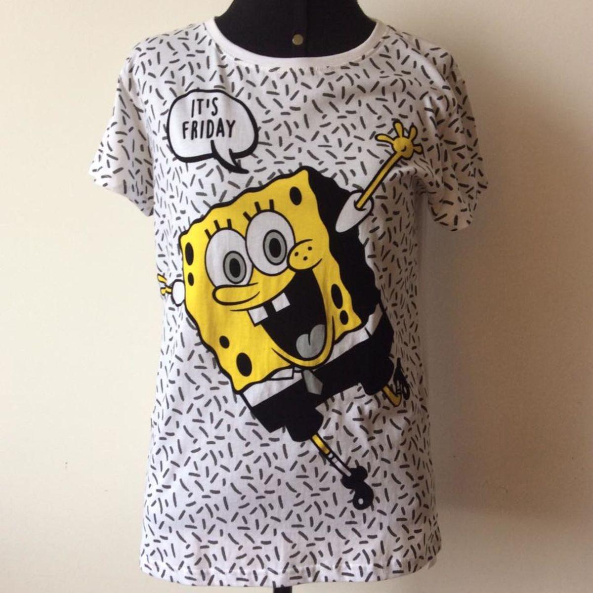 recoger Vergonzoso bañera  Camiseta Bob Esponja Importada | Camiseta Feminina Bob-Esponja Nunca Usado  20898452 | enjoei
