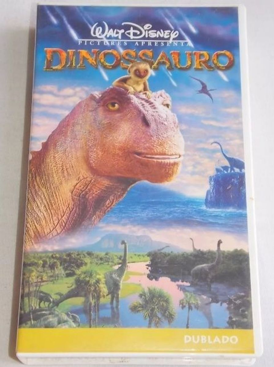 Vhs Dinossauro Walt Disney Desenho Dublado Filme E Serie Disney