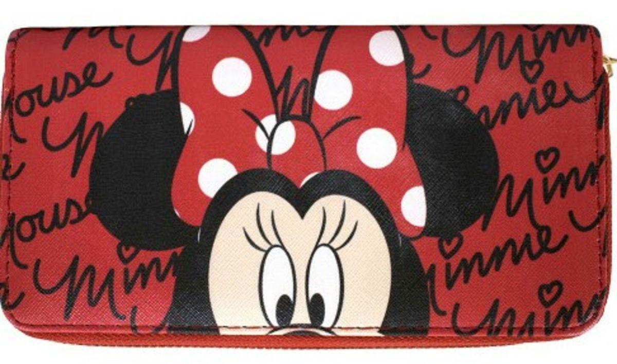 Carteira Rosto Minnie Vermelha Disney Bolsa De Mao Feminina