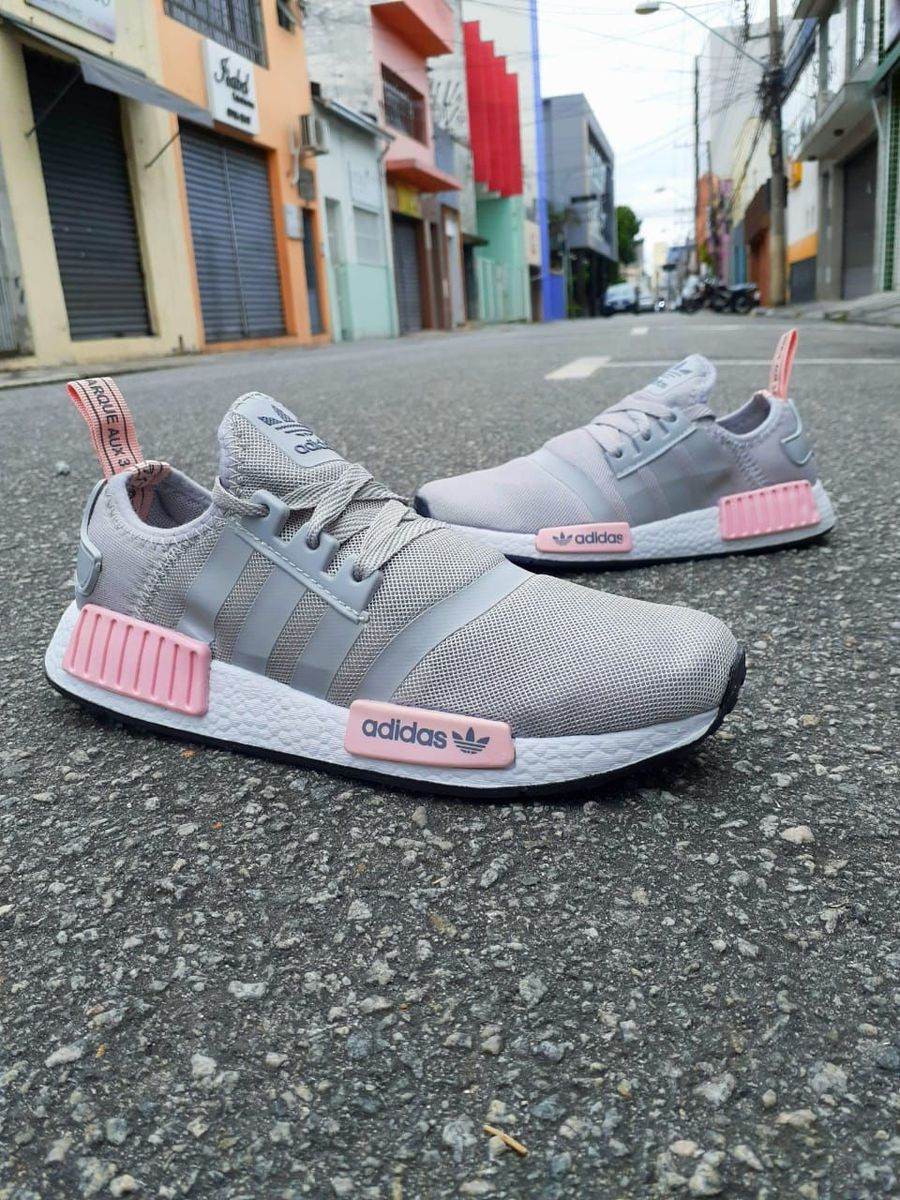 adidas nmd rosa com cinza