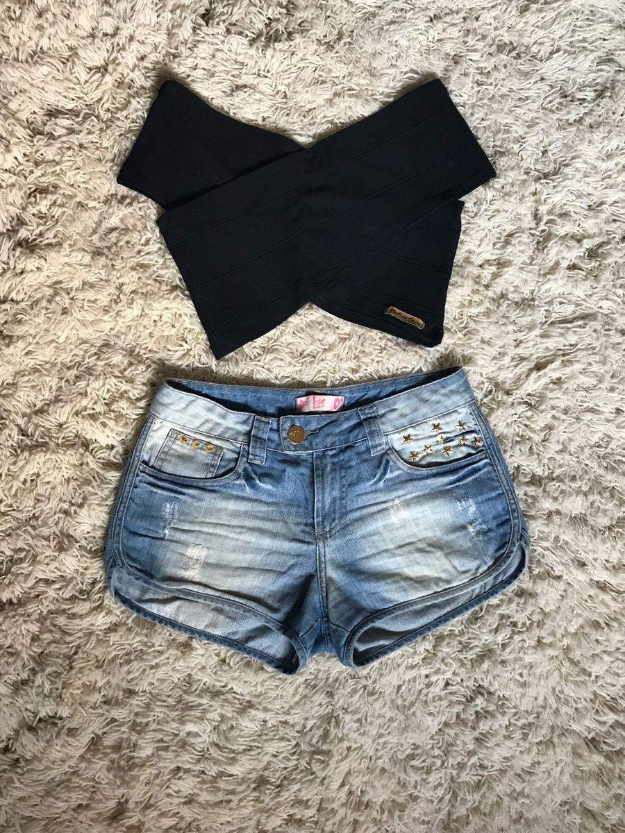 cropped e shorts