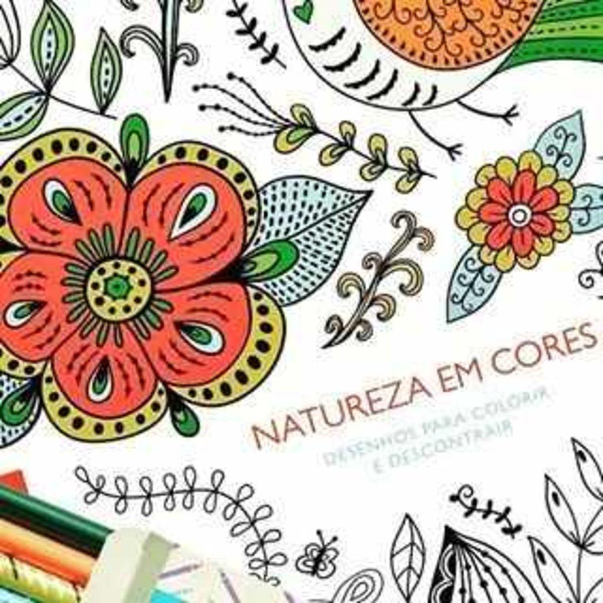 Caderno De Pintar Natura Natureza Em Cores Item De Papelaria