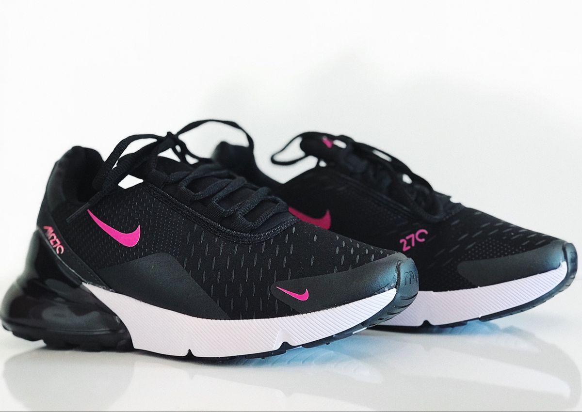 air max 270 feminino preto e rosa