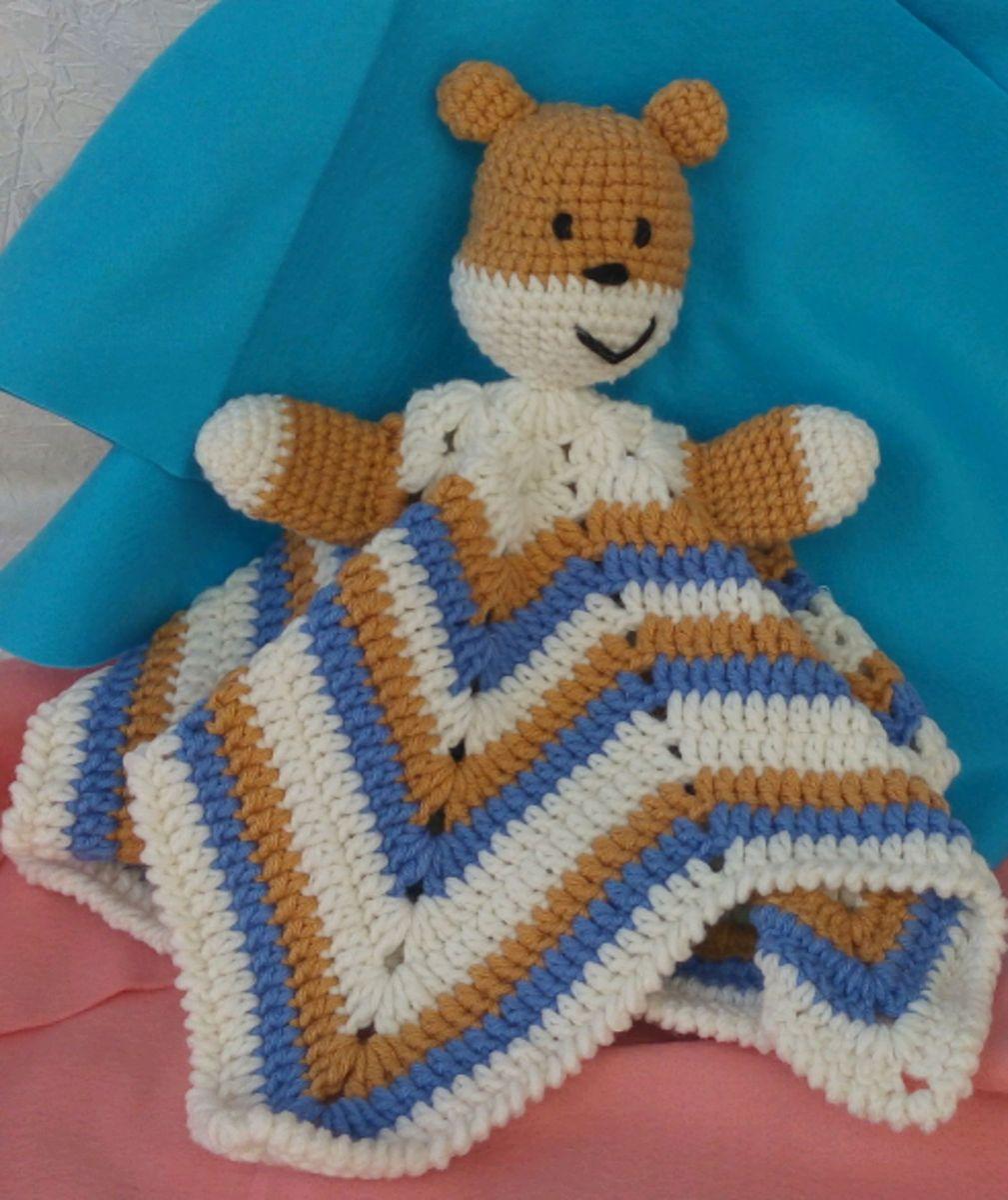 Amigurumi Urso Naninha De Apego Em Crochê - R$ 70,00 em Mercado Livre   1200x1009