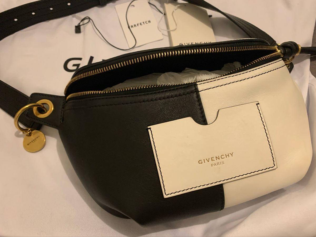 Bolsa Pochete Chiquerrima Preta e Branca Givenchy Original | Bolsa ...