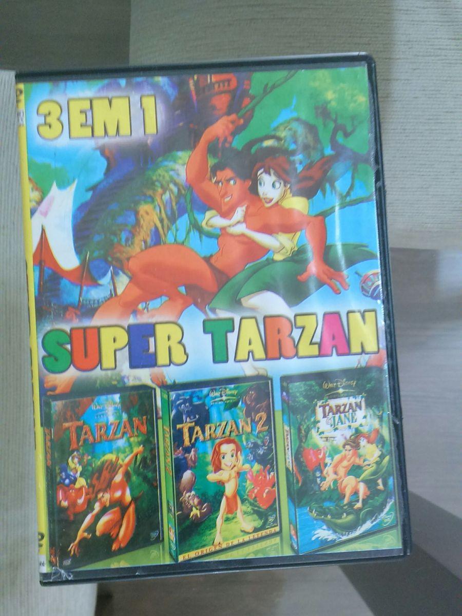Dvd Infantil 3 Em 1 Tarzan Filme E Serie Usado 19626771 Enjoei