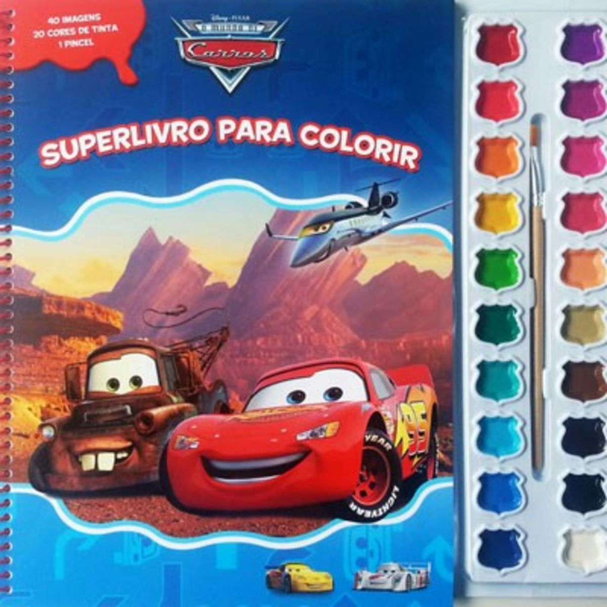 Livro De Colorir Aquarela Carros Mcqueen Brinquedo Nunca Usado