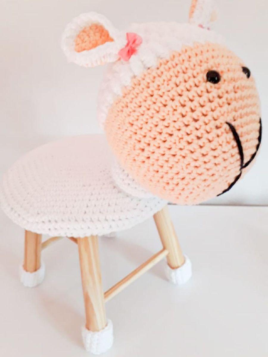 Banquinho Unicornio Croche Amigurumi 50cm - R$ 150,00 em Mercado Livre | 1200x900