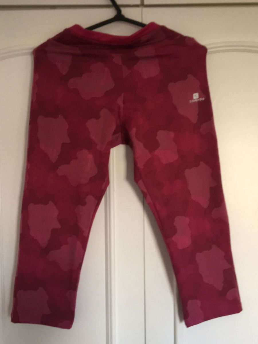 Calca Legging Estampa Camuflada Em Tons De Rosa Calca Feminina Decathlon Usado 27709318 Enjoei