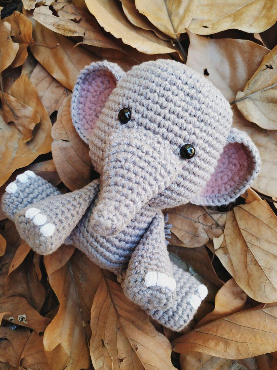Elefante de Crochê Rosa | Elefante de crochê, Amigurumi de croche ... | 1200x900