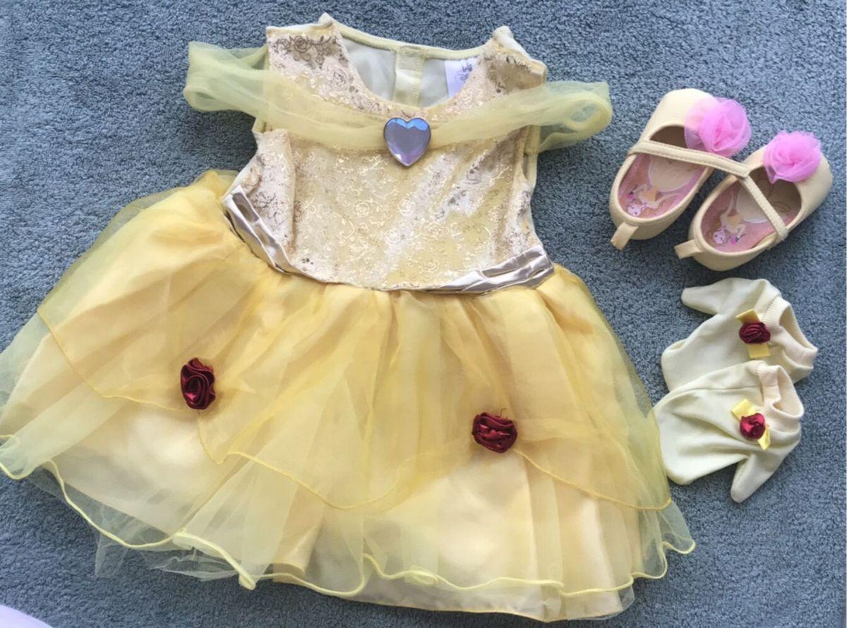 Fantasia Bela Desenho A Bela E A Fera Disney Roupa Infantil