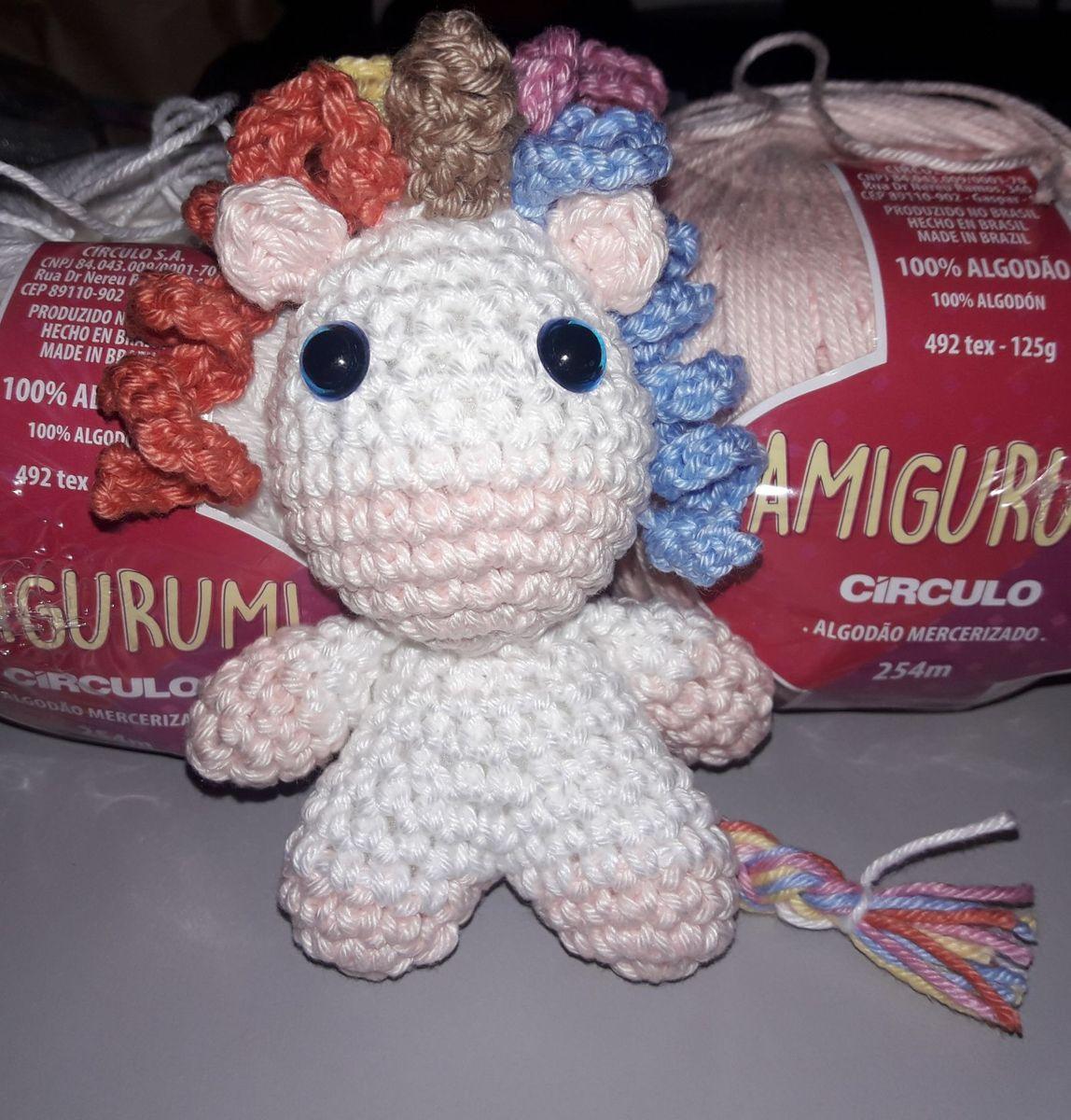 Unicórnio de crochê, ideal para decoração. Feito de fio 100 ... | 1200x1148