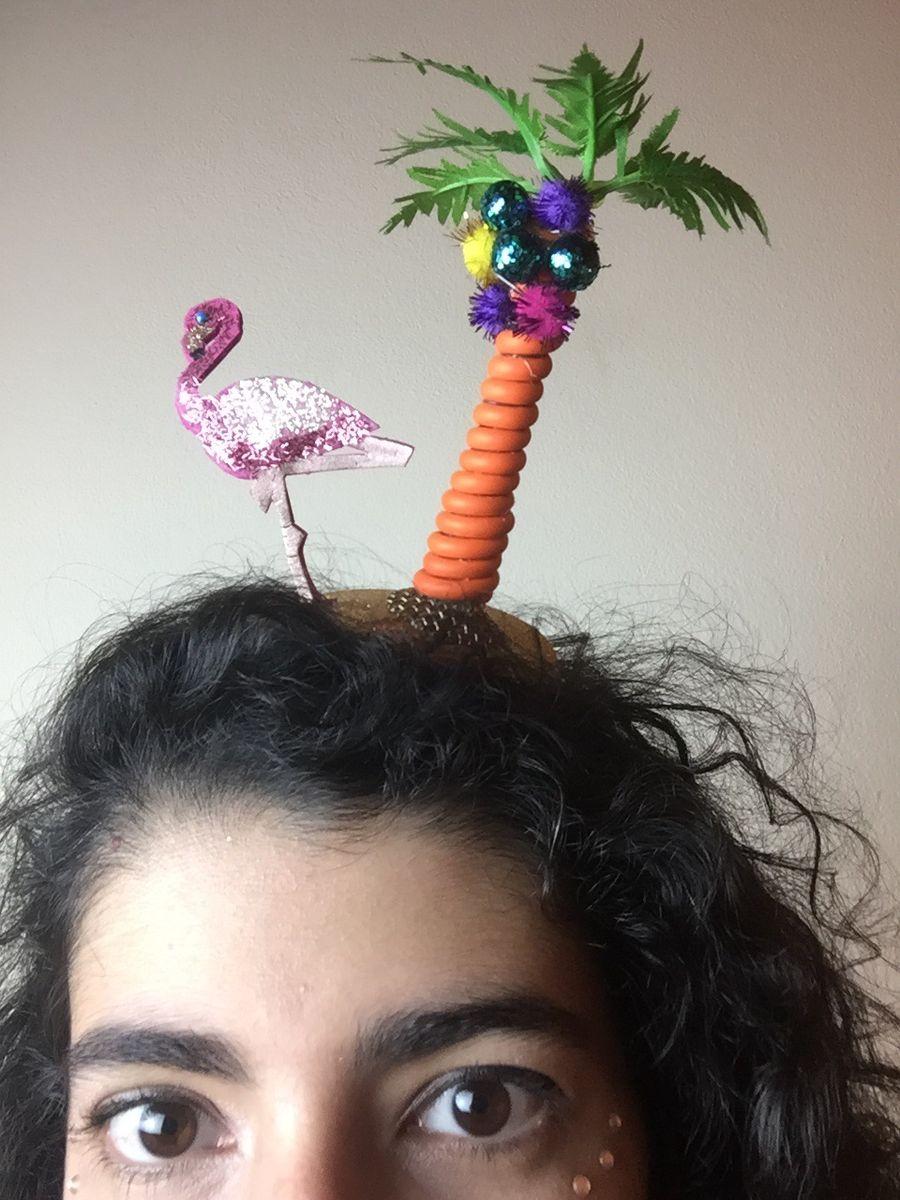 O Divertido E Ser Flamingo Tiara Fantasia De Carnaval Produto P Cabelos Feminino Carnaval Nunca Usado 39842233 Enjoei