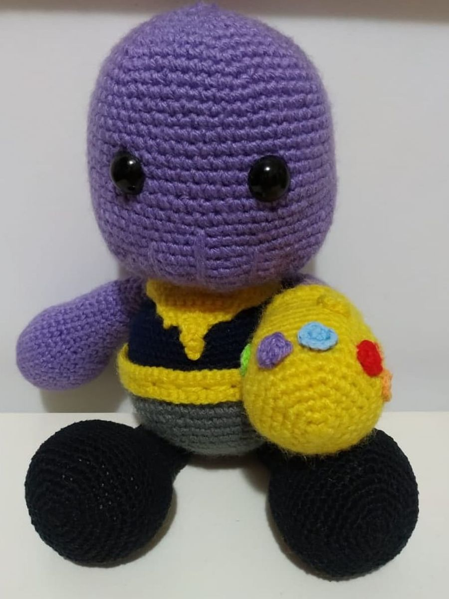 Ravelry: Thanos Amigurumi pattern by Lazi Crochet | 1200x900