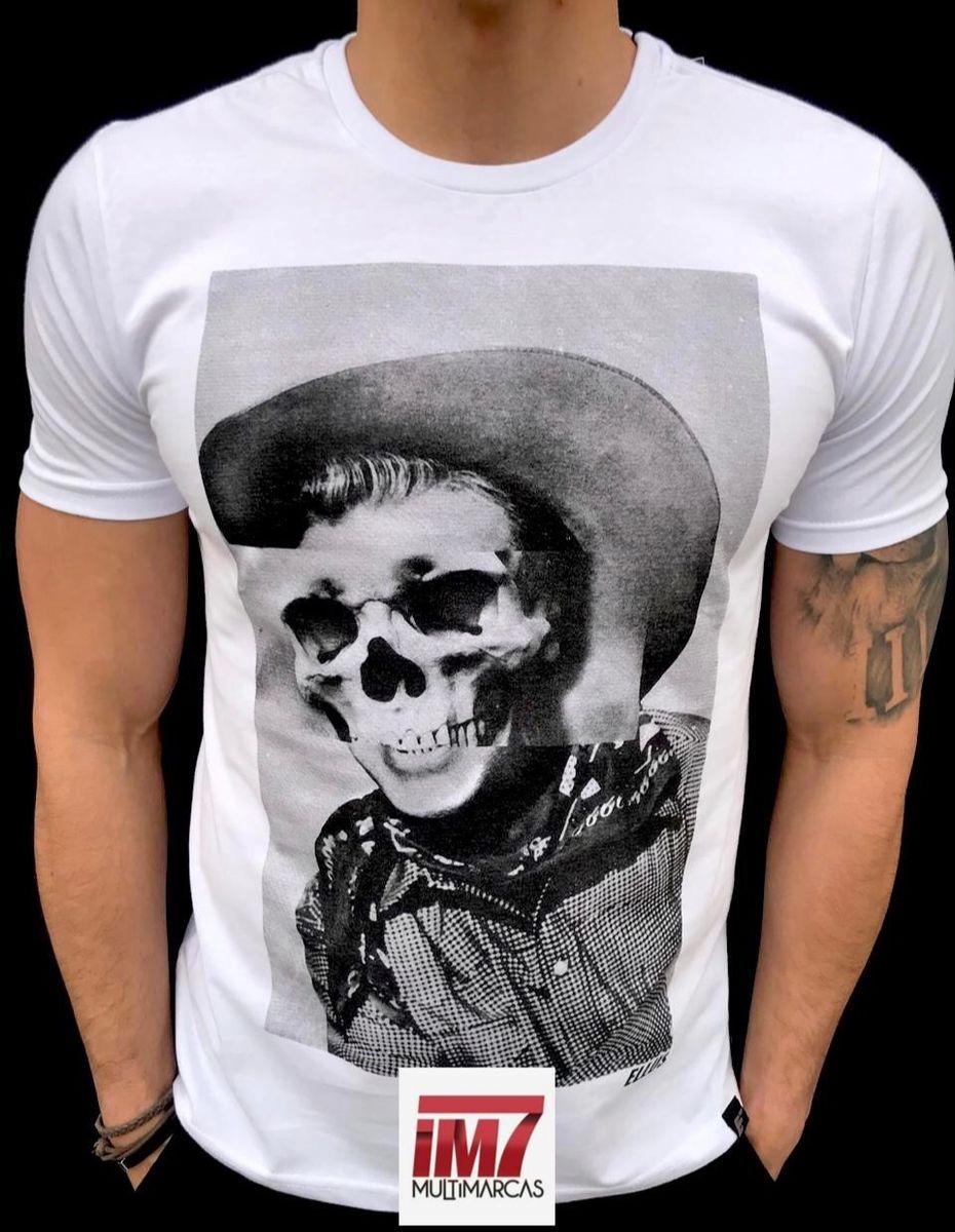 Camisa Ellus Desenho Cowboy Caveira Retrô