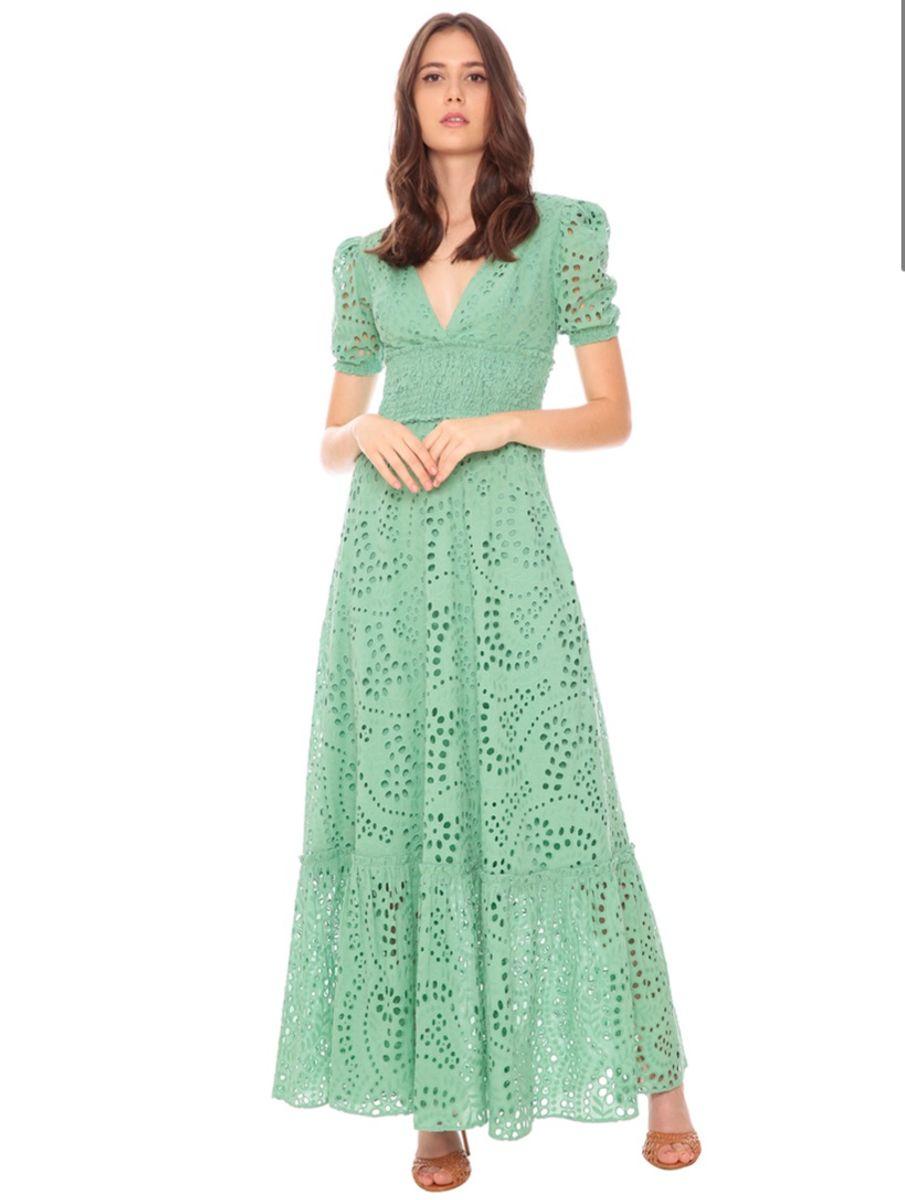 Vestido Laise Longo Amissima Verde | Vestido Feminino Amissima ...