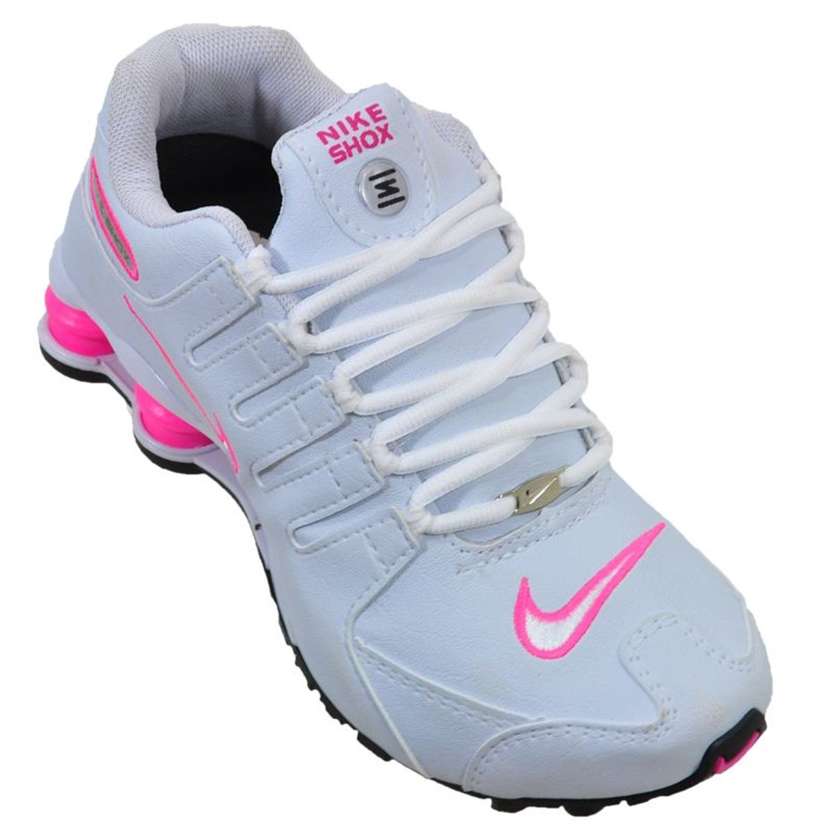 nike shox nz feminino branco com rosa