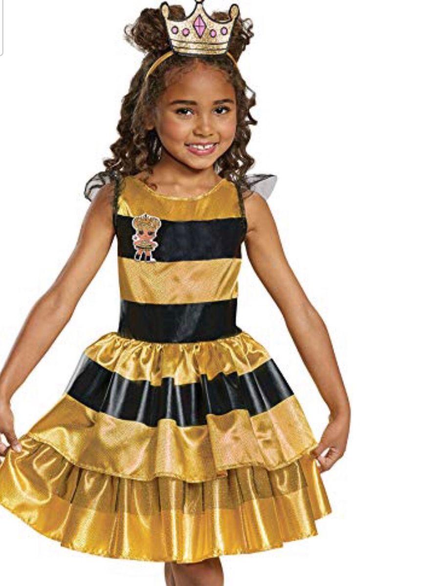 Fantasia Lol Surprise Queen Bee L O L 7 8 Anos Roupa Infantil Para Menina Lol Surprise Nunca Usado 33062149 Enjoei