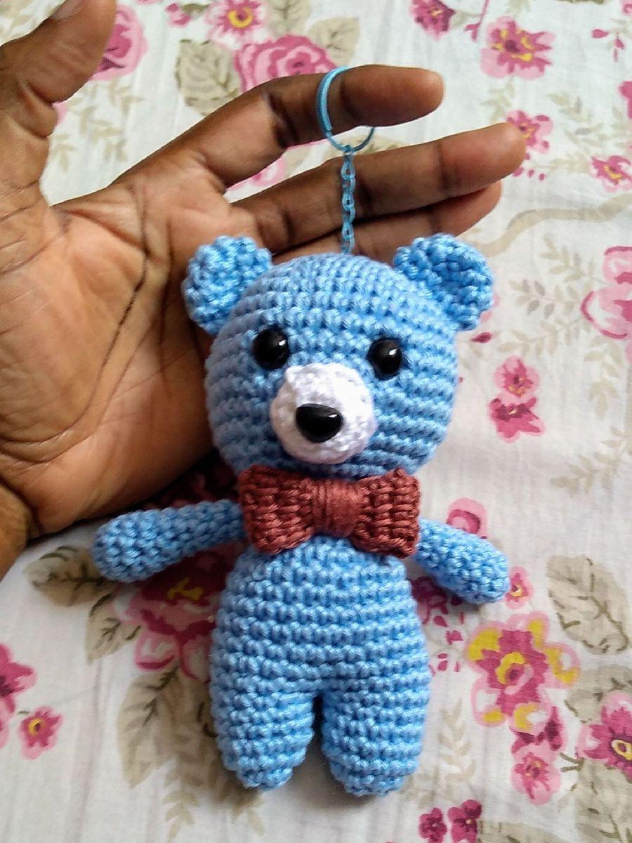 Chaveiro de ursinho em crochê lembrancinhas   Chaveiro, Chaveiro ...   1200x900