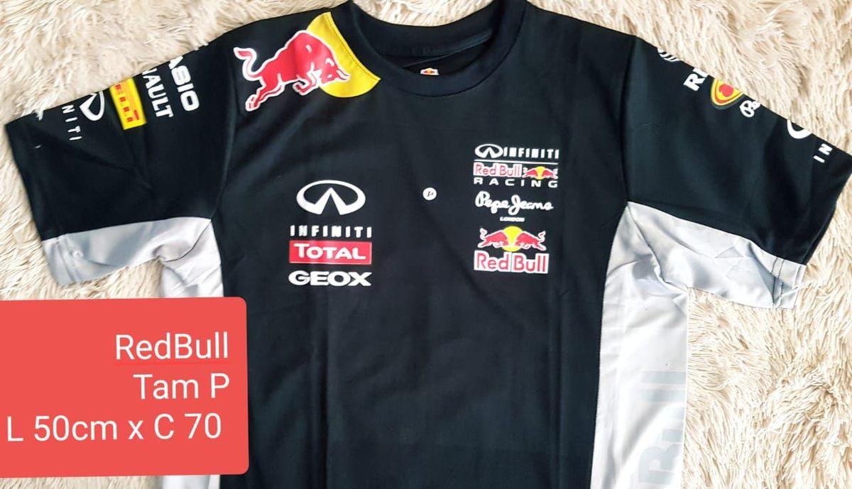 textura infierno Europa  Camiseta Original da Red Bull Azul Marinho Tam P | Camiseta ...