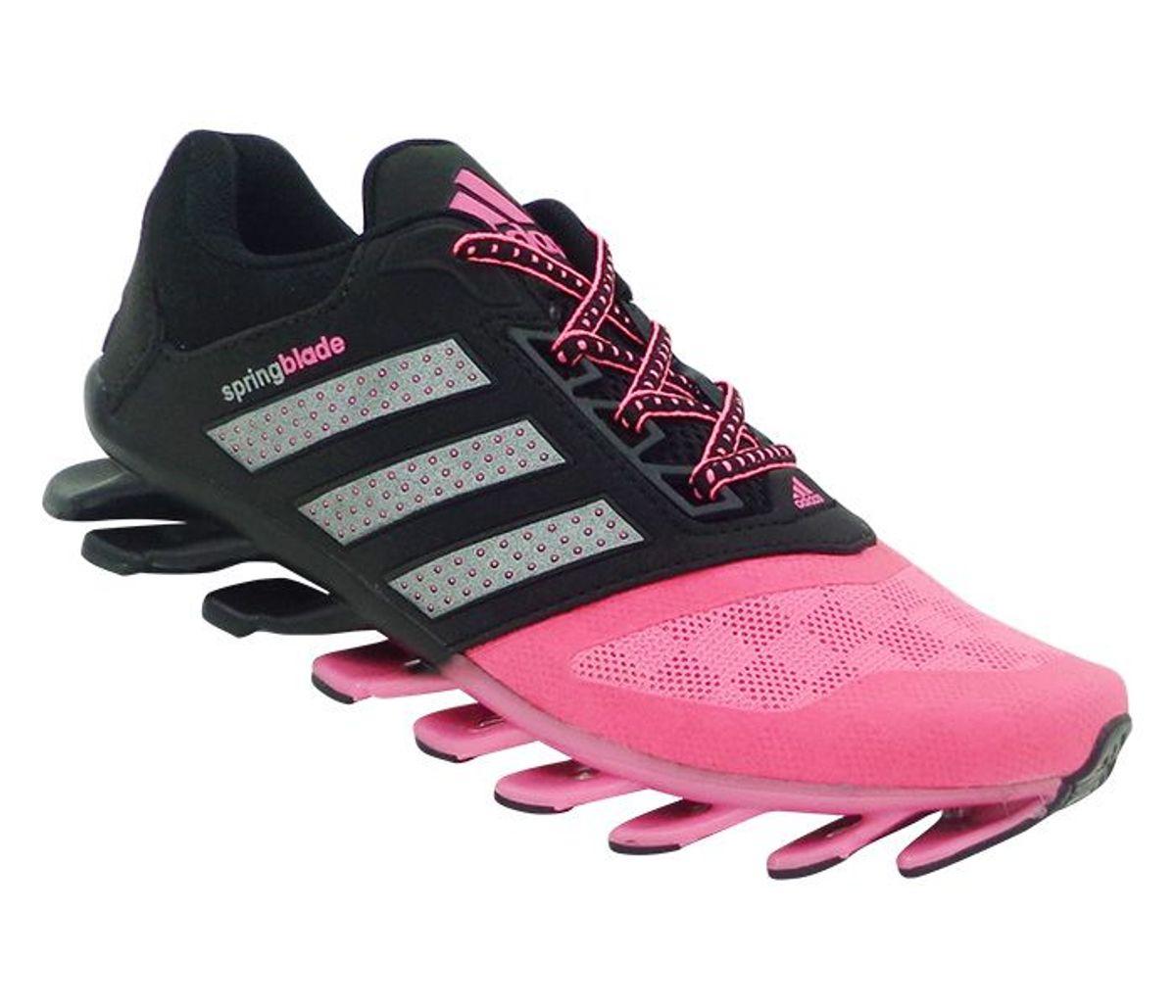 adidas springblade feminino cinza e rosa