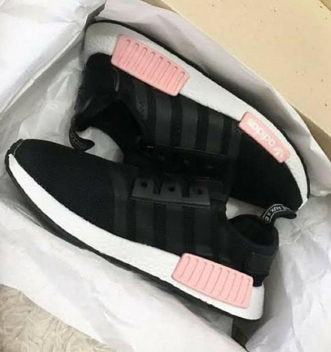 adidas nmd feminino preto e rosa
