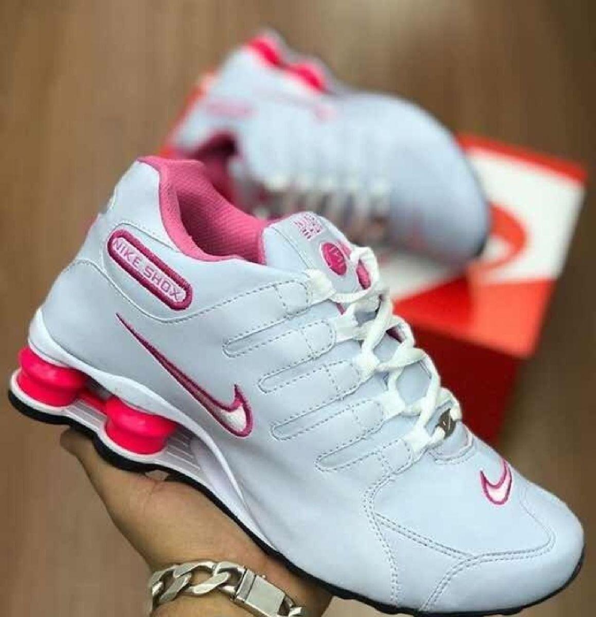 nike shox feminino rosa claro
