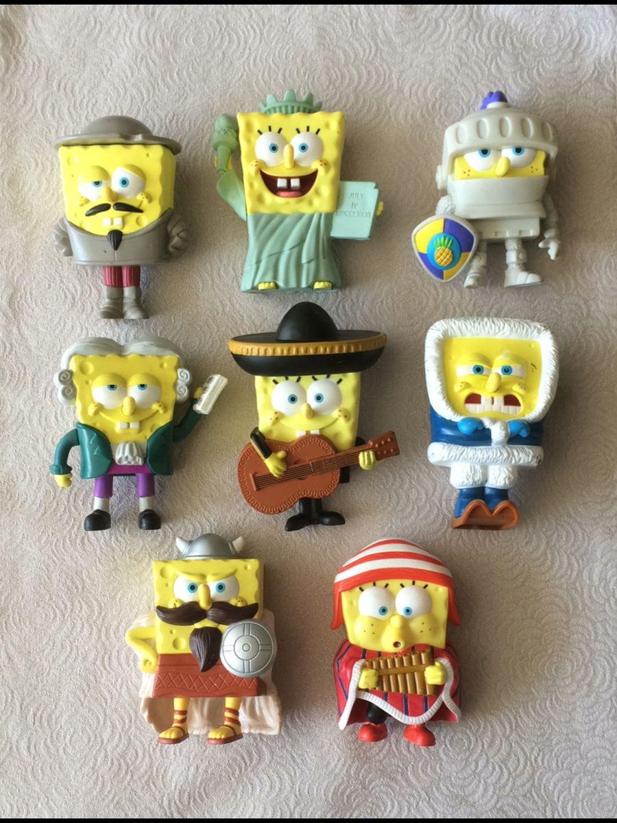 Burger King Bob Esponja 2002-Conjunto Completo De 8 Crianças Brinquedos De Refeição Novo Na Embalagem