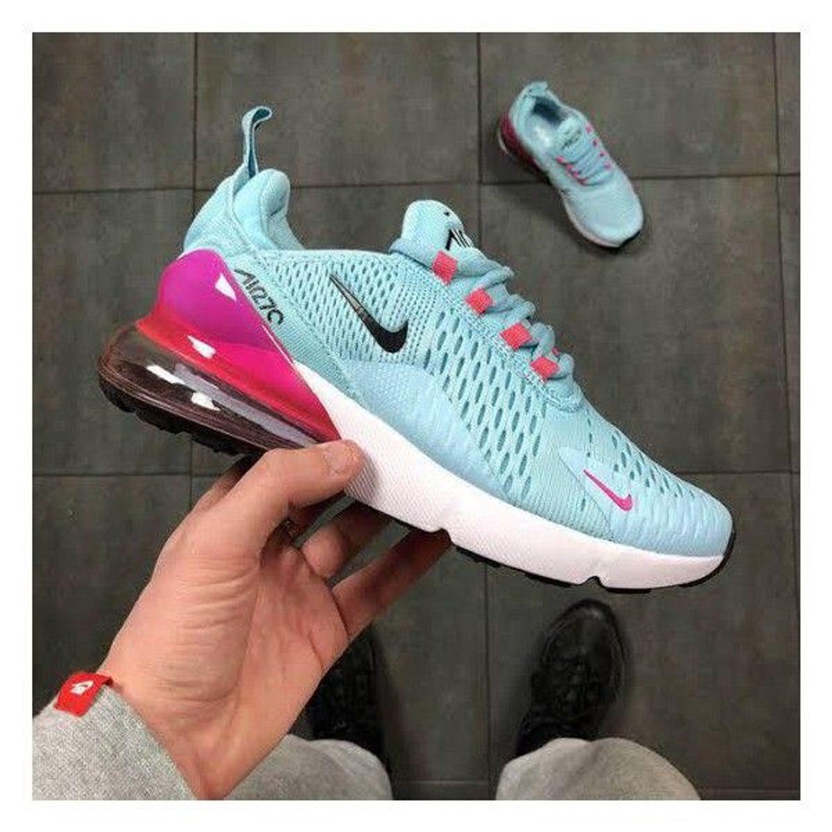 air max 270 azul e rosa