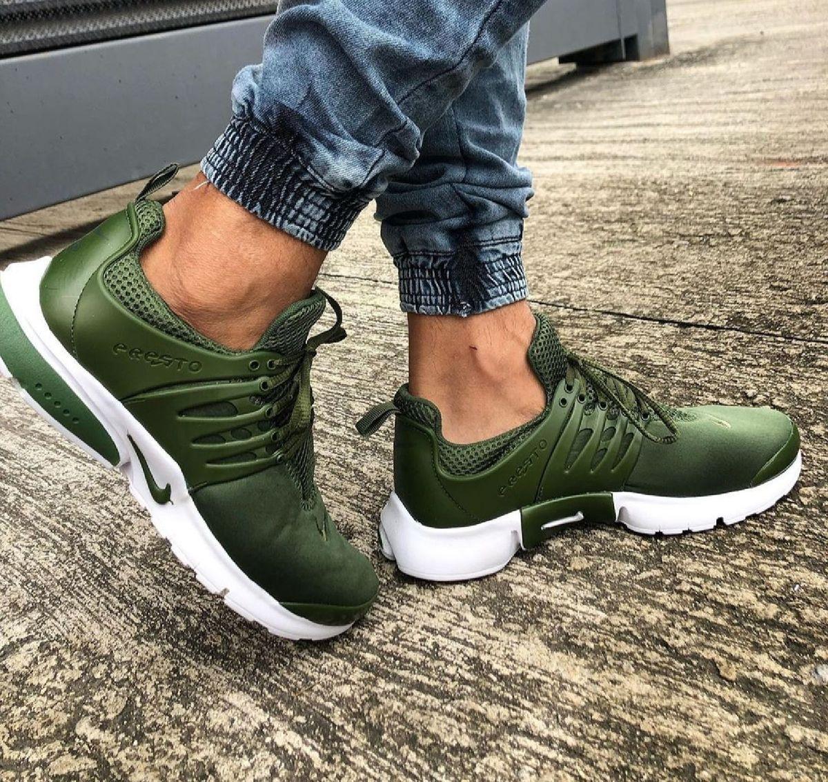 nike air presto feminino verde militar