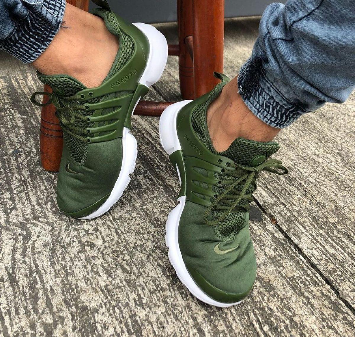 nike presto feminino verde militar