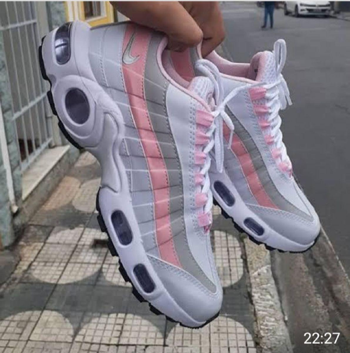 air max 95 branco e rosa