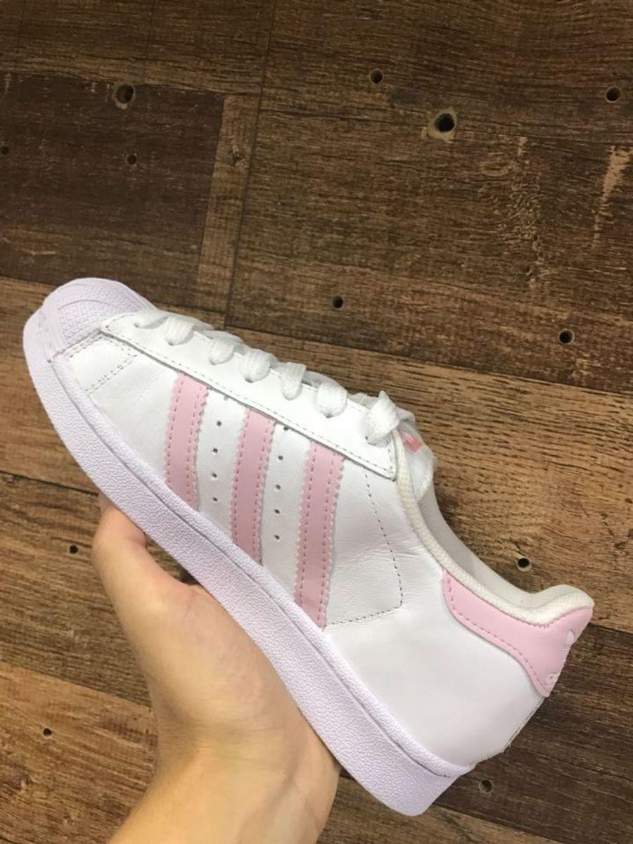 tenis adidas listra rosa