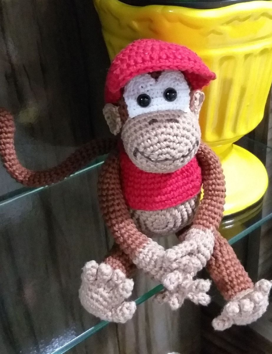Amigurumi Donkey Kong Amigurumi – Recipe Amigurumi Donkey Kong ... | 1200x923