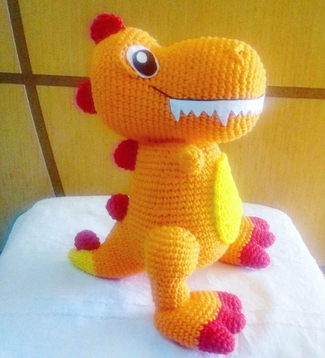 Dinossauro de Crochê Amigurumi | Brinquedo para Bebês Amigurumi ... | 1200x1089